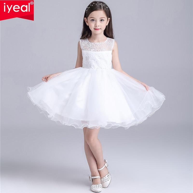 ФОТО Princess Ivory Lace Tutu Ball Gown Knee-Length Flower Girl Dresses 2016 Girls First Communion Birthday Dress vestido de daminha