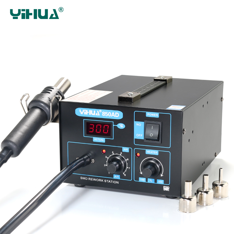 YIHUA 850AD SMD Hot-Air Electronic Cell Phone Soldering Station , 550w 220v Air Pump