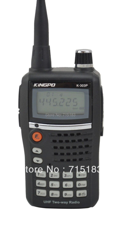 Kingpo K-303P UHF 400-470MHz 5W 99CH FM Portable Two-way Radio Handheld Transceiver 10km walkie talkie FreeshippingKingpo K-303P UHF 400-470MHz 5W 99CH FM Portable Two-way Radio Handheld Transceiver 10km walkie talkie Freeshipping