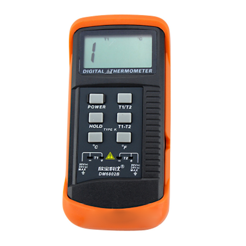 New Style Portable Digital LCD Thermometer with K Type Thermocouple Double Channel Meter Temperature DM6802B