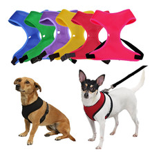 Beautiful Harness For Dogs Pet Pink Green Purple Blue Yellow Red 6 Colors Adjustable Nylon Vest Mesh Harness Dog Lead Supplies