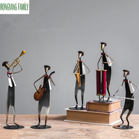 Nordic Musician Sculpture Guitar Saxophone Character Figurines Creative Figure Music Piano Violin Miniatures Statue Model Crafts