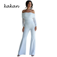 Kakan Solid color stitching long sleeve pleated tube top jumpsuit One shoulder trousers trousers jumpsuit knot front pleated striped tube top with shorts