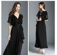Dress Sale Women Zanzea Vestidos Mujer European And American Women's Free Shipping 2019 New Sexy Sequins Stitching Large Size