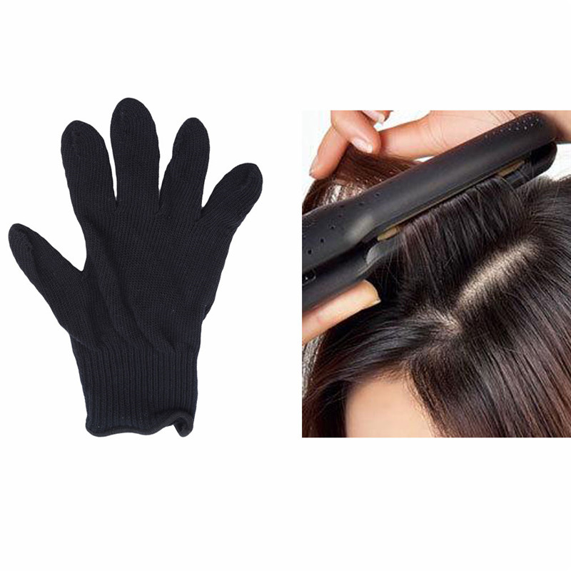 1PC Heat Resistant Glove Hair Styling Blocking Curling Styling Hand Skin Care Protector Gloves Tool One Size Fits All 23*14cm