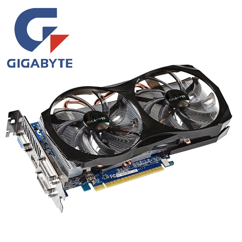 GIGABYTE GV-N650WF2-1GI Video Card GTX 650 1GB 128Bit GDDR5 Graphics Cards for nVIDIA GTX650 Geforce HDMI Dvi Used VGA Cards 1gb 450 128bit graphics card pci e vga dvi hdmi for nvidia geforce game video graphics upgrade card