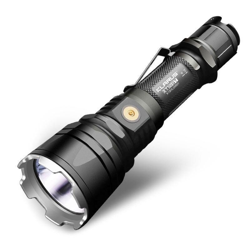 Nouveau KLARUS XT12GT 1600 Lumens LED lampe de Poche CREE LED XHP35 SALUT D4 Étanche Tactique lampe de Poche par 18650 Batterie