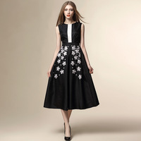 Summer Woman Dresses New Style Chiffon Dresses T Temperament Slim Heavy Embroidery Dress Women S Clothing