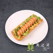 Simulation Classic Thousand Layer Hot Dog Bread Toast Food Model Sample Photography Prop Handicraft Artificial Props Ornaments