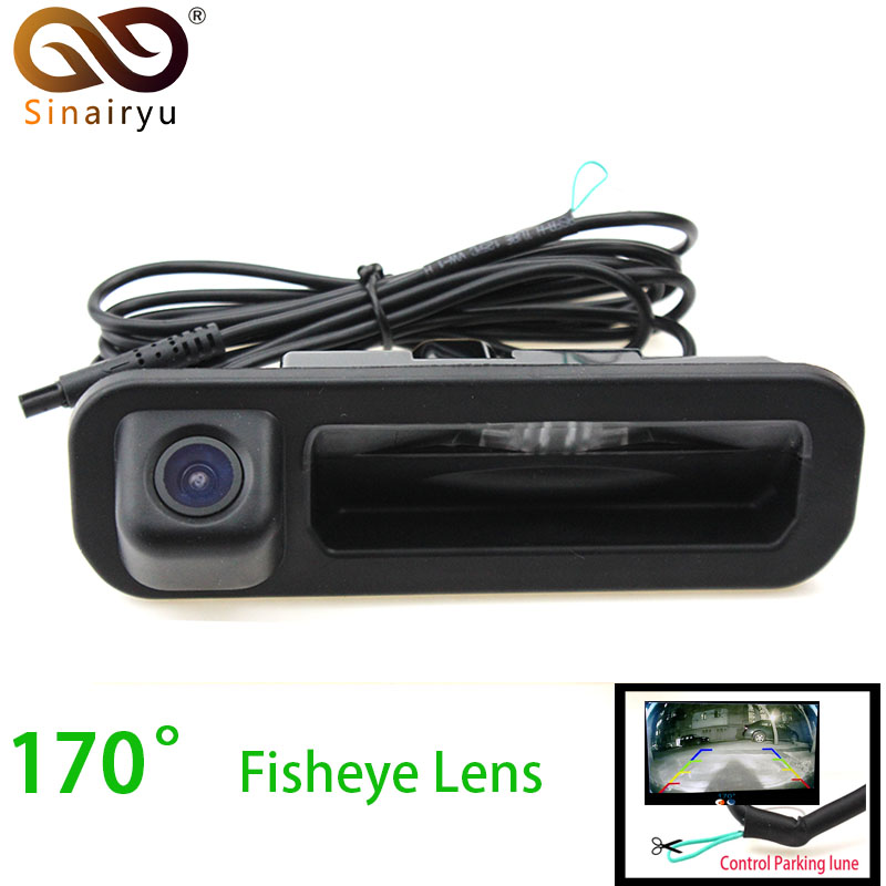 Sinairyu Wide Angle Fisheye Lens Car Rear View Camera For Ford Focus 2012 2013 Focus 2 Focus 3 Vehicle Trunk Handle Camera велосипед focus raven 2 0 20 g 2013