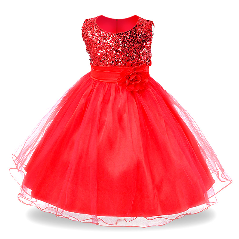 2017 Summer Girl Dress For Girls Dresses birthday Kids clothes princess Party dress Children Clothing Wedding Pageant Ball Gown