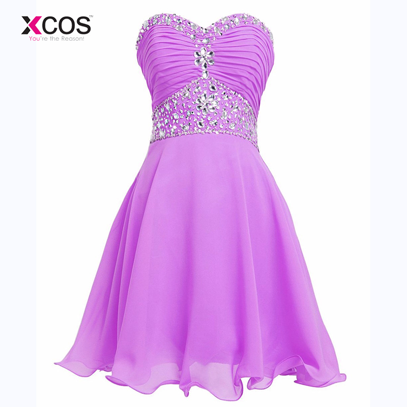Purple Sweetheart Short   Bridesmaid     Dresses   Crystal Beaded Chiffon Knee Length Mint Green Wedding Party   Dress