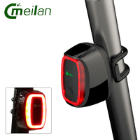 Smart Bicycle Rear Light Usb Safety Tail Lights Rechargeable Waterproof For Cycling Bike Lamp7 Mode Meilan