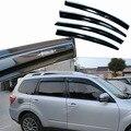 4 unids Windows Vent Viseras Lluvia Guardia Parasol Deflectores Para SubaruForester Oscuro 2008