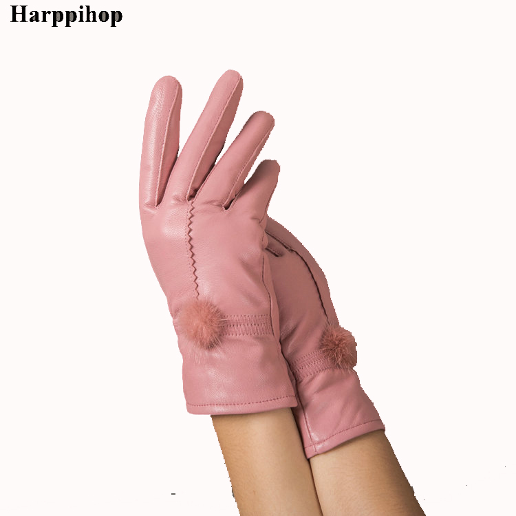 Fashion Quality 2019 Women's Genuine Leather Gloves Autumn And Winter Thermal Gloves