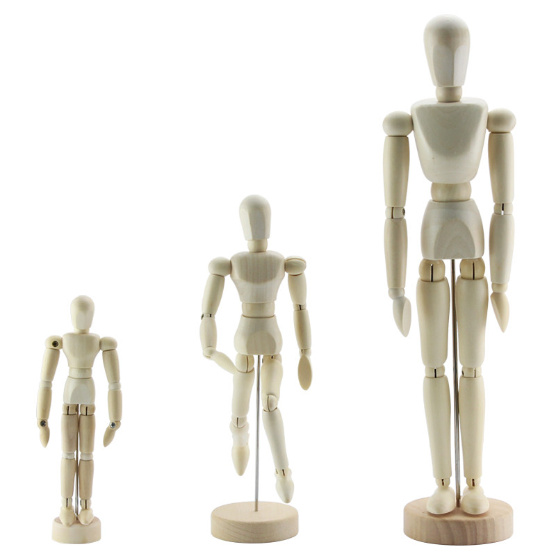 Wooden Artist Figures Model Painting Sketch Cartoon Jointed Model for Art Supplies image