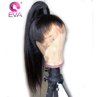 Eva Hair Full Lace Human Hair Wigs With Baby Hair Pre Plucked Glueless Full Lace Wigs For Women Straight Brazilian Remy Hair