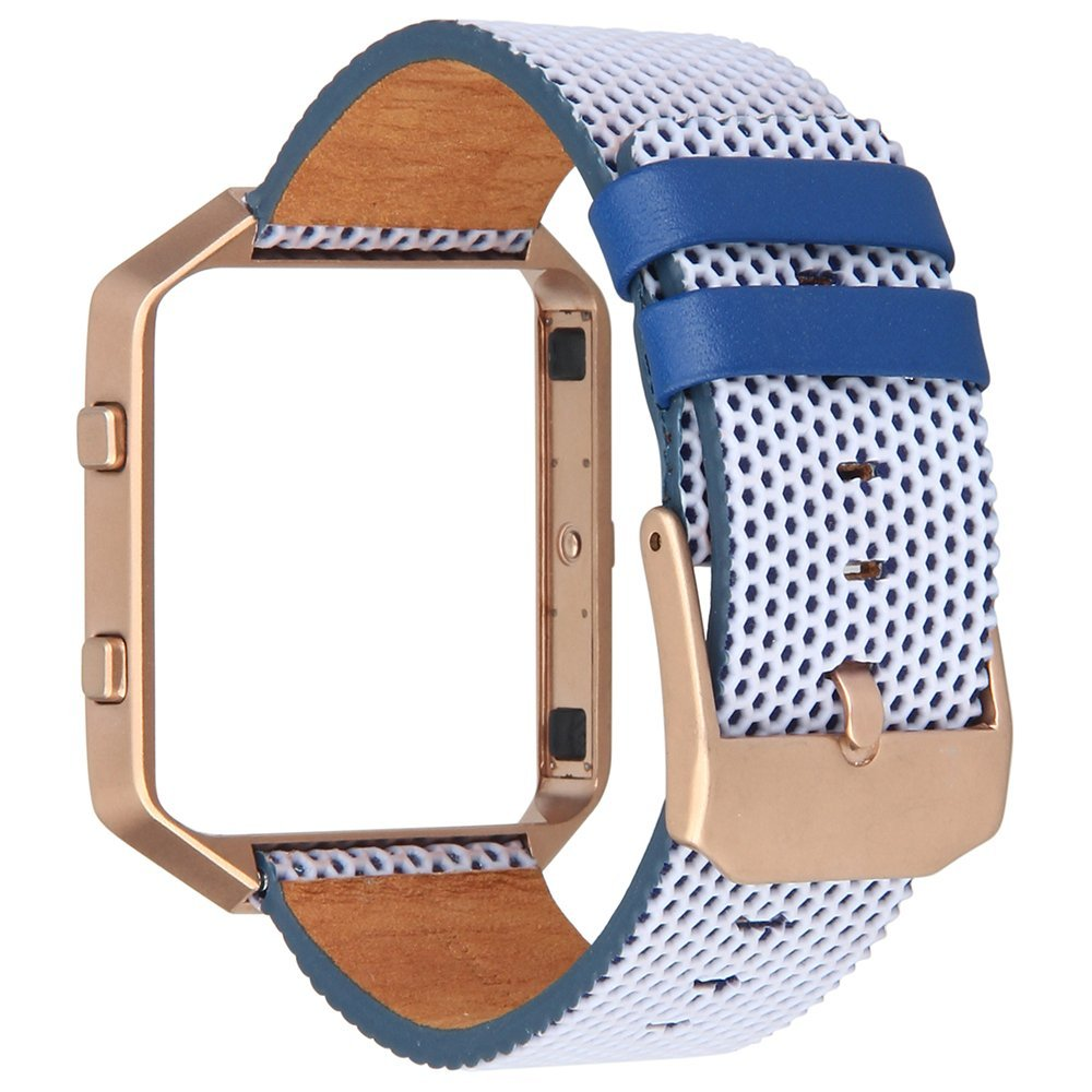 V-MORO 2017 New Arrival Fashion Colorful LEATHER Bracelet WATCH STRAP For FITBIT BLAZE BAND With METAL FRAME FITBIT BLAZE STRAPS
