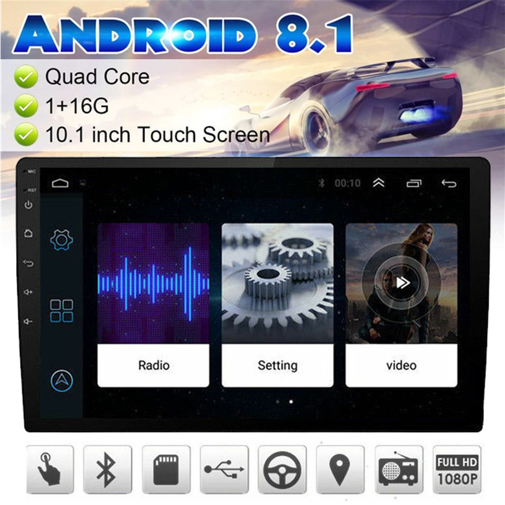 10.1 Inch Android 8.1 Car Multimedia Player GPS Navigation 2 Din Quad Core Car Radio Stereo Video MP5 Player BT Wifi OBD2