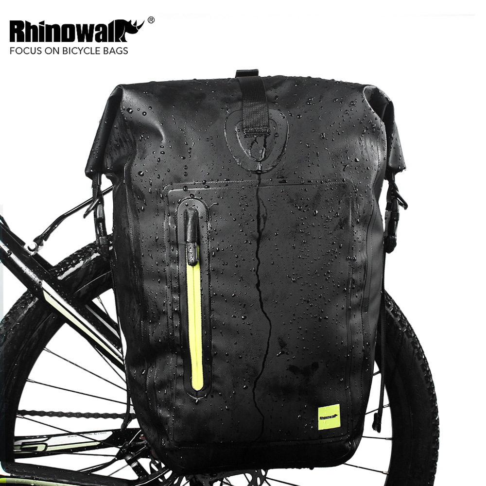 Bolsa de bicicleta resistente al agua rinowalk 25L MTB Road Bike, bolsa de bicicleta trasera, bolsa de bicicleta, bolsa de asiento trasero, bolso de hombro, accesorio de bicicleta