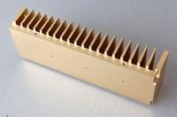Alle Aluminium Radiator Met Goud Kleur 200mm x 40mm x 68mm voor Versterker HIFI Aluminium Heatsink