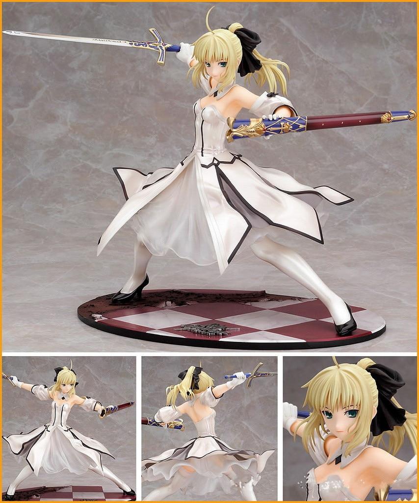 Figurine Anime 23 cm destin nuit Grand ordre sabre sabre blanc sébastien 1/7 échelle PVC modèle Collection nouvelle poupée Sexy