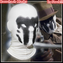 Hot Sale New Rorschach Masks Balaclava Watchman Cosplay Costume Halloween Headgear Comic Full Face Mask adults size Toy Gifts
