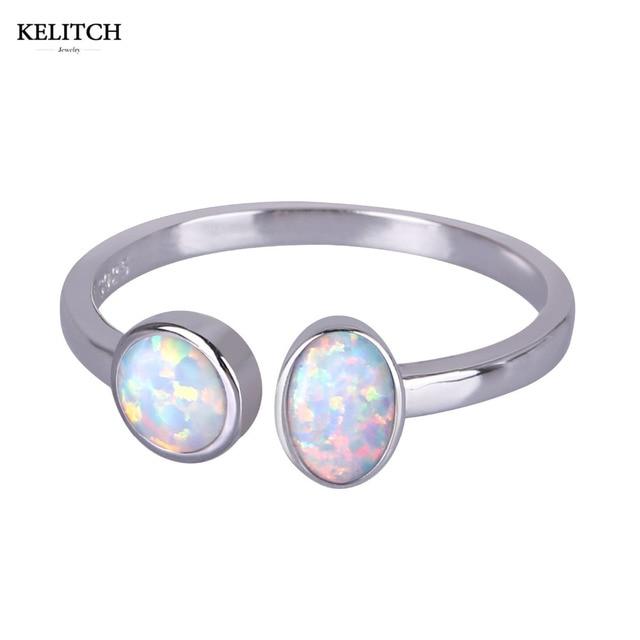 kelitch jewelry fantasy bohemian wedding bands rings for women sterling silver 925 jewelry opal ring with - Bohemian Wedding Rings