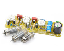6N1+6P1 Valve Stereo Amplifier Board Vacuum Tube Amplifiers Filament Hifi Audio AC Power Supply with 3vsvTubes