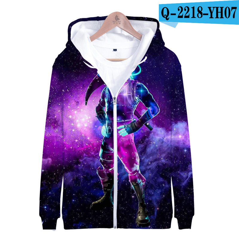 Zipper Fortnited Battle Royale Hoodie Oversize Moletons 2019 Women Clothes Men Funny Children Clothing Fortnight Streetwear
