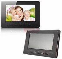 Handsfree Video Intercom 7 Inch TFT LCD Monitor Video deur Telefoon Zwart/Wit kleur Indoor Monitor 100 V Naar 240 V Power Supply
