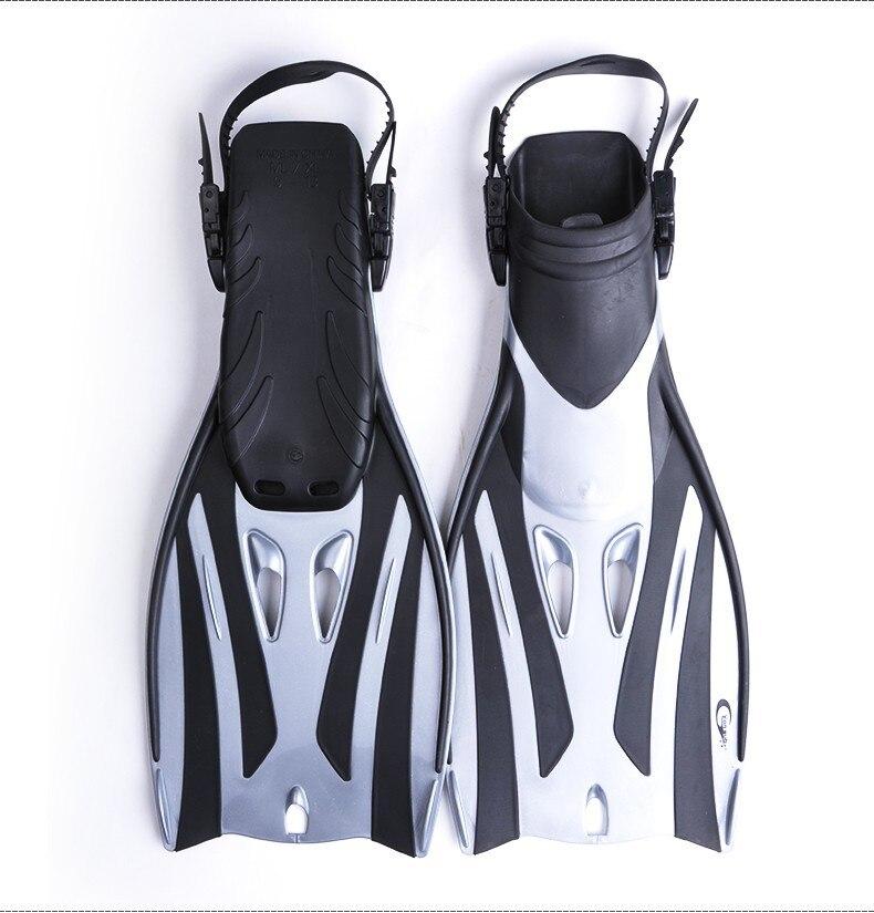 Équipement professionnel de plongée pour adultes avec masque et tuba palmes réglables Set équipement de plongée pour la chasse sous-marine natation - 3
