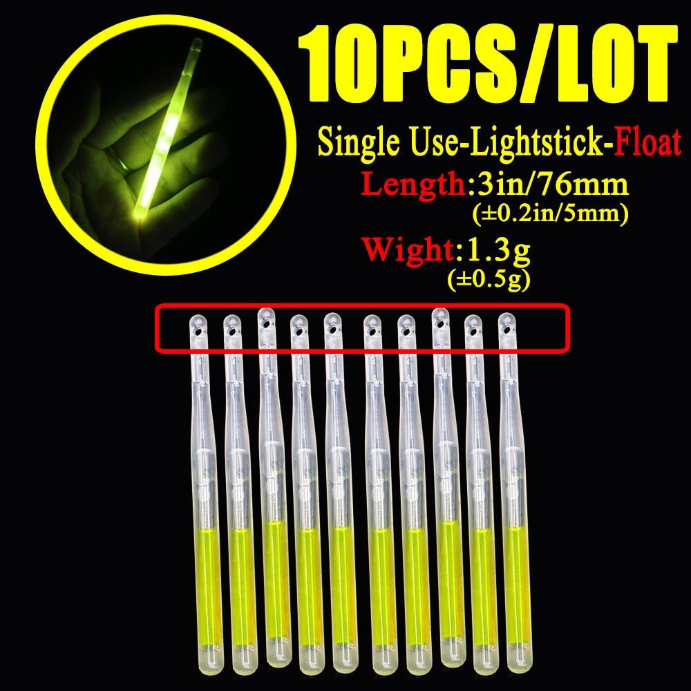 10 pcs / beg 4.5 * 40mm kunang-kunang untuk memancing float lampu - Memancing - Foto 6