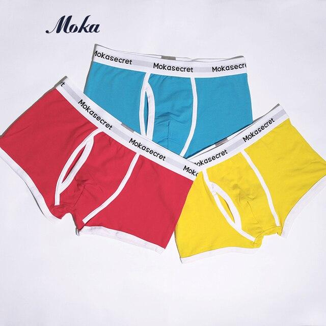 5ca8045e6057d 6 разноцветное нижнее белье Для мужчин хлопковые трусы-боксеры 3 шт./лот  чехол