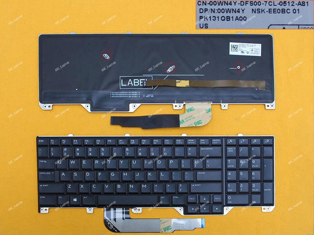 Collection Here New Us English Keyboard For Dell Alienware 17 R4 (2016) Series Black, Full Colorful Backlit, Win8