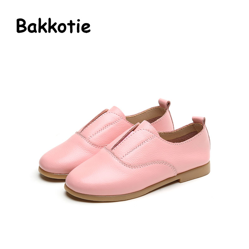 Bakkotie 2017 New Fashion Spring Autumn Baby Casual Shoe Toddle Kid Leisure Girl Slip On Flats Child Breathable Comfort Pink