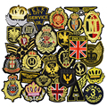 10pcs Badge style patches for clothing iron embroidered Diy patch applique iron sew on patches sewing accessories for clothes