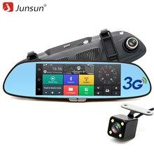 Junsun 7″ 3G Car Camera DVR GPS Bluetooth Dual Lens Rearview Mirror Video Recorder Full HD 1080P Automobile DVR Mirror Dash cam