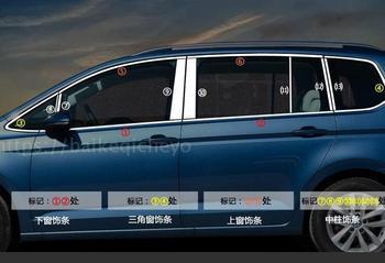 26 Pcs Edelstahl Fenster Trim Abdeckung Außen Körper Dekoration Für Volkswagen Touran 2016 Chrom Auto-Styling