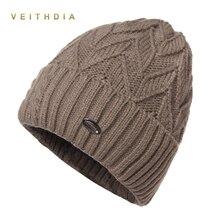 VEITHDIA Winter hats for men bilayer knitted wool cap plus velvet thicker women hat beanies for autumn men hair bonnet gorros