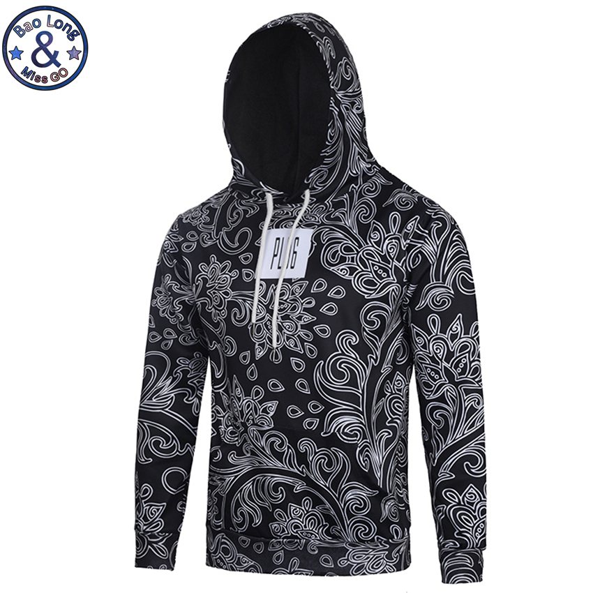 Mr.BaoLong New fashion hip-hop 3D hoodies for men Europe and America style hooded sweatshirt male jersey con capucha H35
