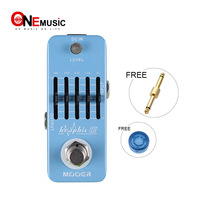 MOOER Graphic G 5 Band Guitar Equalizer Pedal Smallest guitar graphic equalizer pedal in the world+Free Connector 1pcs