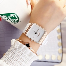 2018 Brand Women Watches Women Silicone Square reloj mujer Luxury Dress Watch Ladies Quartz Rose Gold Wrist Watch Montre Femme