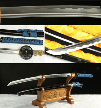 411060 HIGH CARBON STEEL BLACK TSUBA JAPANESE SAMURAI KATANA SWORD SHARP