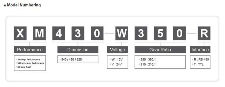 DYNAMIXEL XH430-W350-T Coréia ROBOTIS Dynamixel X série Atuador braço mecânico leme