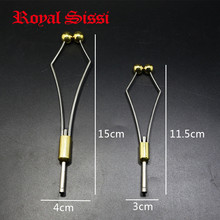 2 sizes heavy bullet head bobbin holder with ceramic tube tip & hollow balls clamp brass copper materials & high-carbon steel