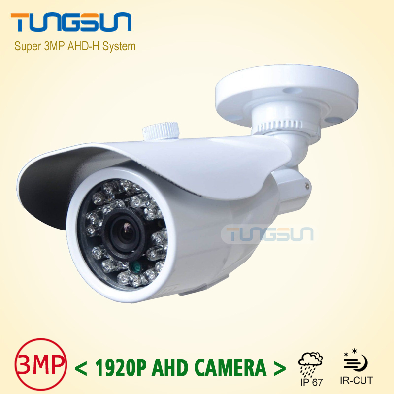 NEW Product Full HD 3MP 1920P CCTV AHD Camera Outdoor Waterproof White Bullet IR Security Video Surveillance Free Shipping low illumination hd 1 3mp cctv 960p ahd camera 3000tvl outdoor waterproof mini small metal white bullet ir security surveillance