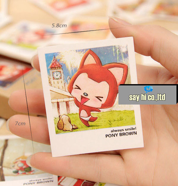 business cards mini postcard cartoon animal fox kids friends shop gift thanks card encourage 120pcs - Buy Business Cards