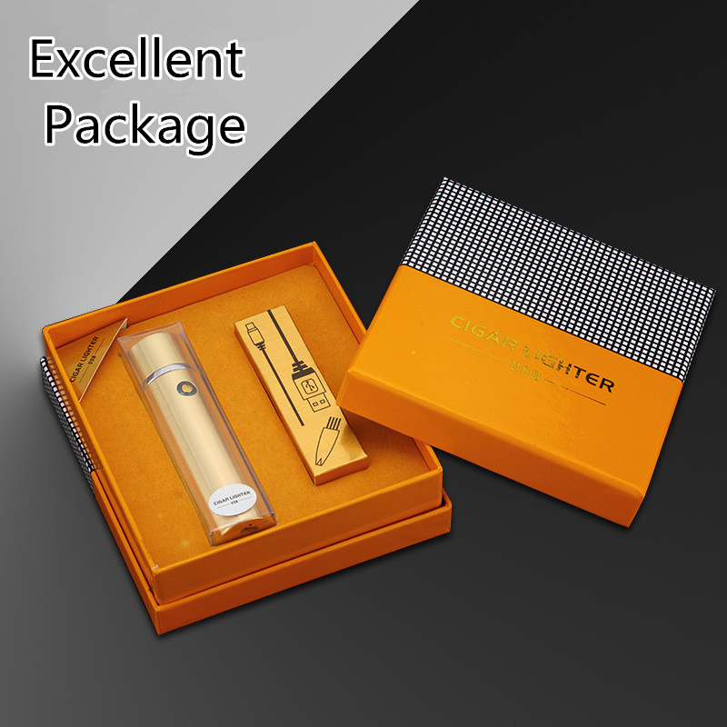 Image 4 - New Cigar USB Lighter Electric 6 Pulse Arc Tobacco Pipe Lighter Cigarette Powerful Six Plasma Thunder Metal Cigarette Accessory-in Cigarette Accessories from Home & Garden