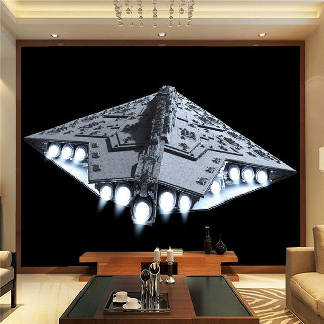 3d raumschiff fototapete star wars wandbild benutzerdefinierten tapete kunst room decor movie. Black Bedroom Furniture Sets. Home Design Ideas